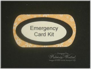 Emergency kit close up