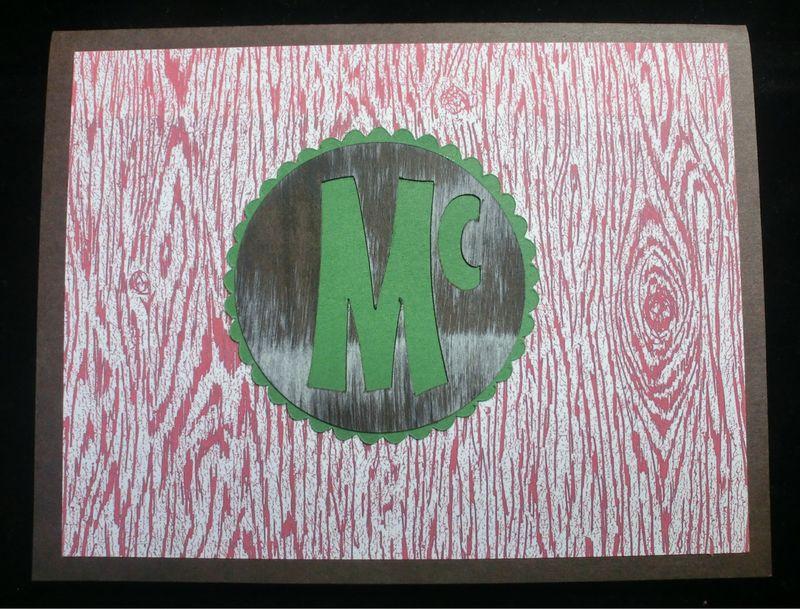 Monogram cards (9)